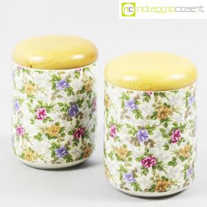 Ceramiche Franco Pozzi, set barattoli decoro a fiori, Ambrogio Pozzi (1)