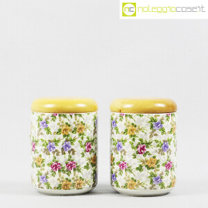 Ceramiche Franco Pozzi, set barattoli decoro a fiori, Ambrogio Pozzi (2)