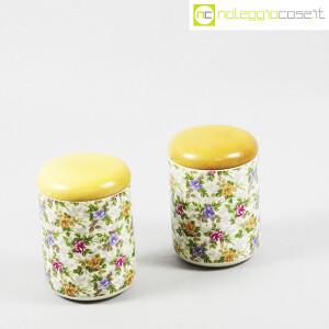 Ceramiche Franco Pozzi, set barattoli decoro a fiori, Ambrogio Pozzi (3)