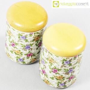 Ceramiche Franco Pozzi, set barattoli decoro a fiori, Ambrogio Pozzi (4)