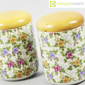 Ceramiche Franco Pozzi, set barattoli decoro a fiori, Ambrogio Pozzi (5)