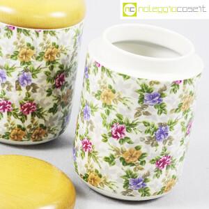 Ceramiche Franco Pozzi, set barattoli decoro a fiori, Ambrogio Pozzi (7)