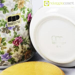 Ceramiche Franco Pozzi, set barattoli decoro a fiori, Ambrogio Pozzi (9)