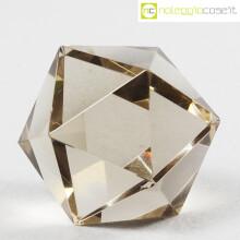 Icosaedro regolare in vetro fumè