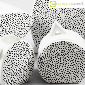 Mas Ceramiche, set da the bianco e nero, Massimo Materassi (7)