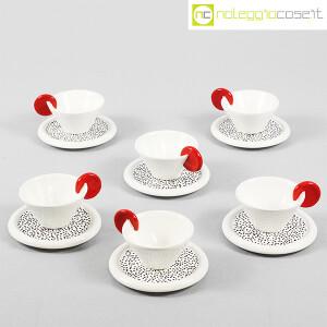 Mas Ceramiche, set tazzine bianche con manico rosso, Massimo Materassi (1)