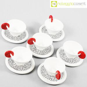 Mas Ceramiche, set tazzine bianche con manico rosso, Massimo Materassi (4)
