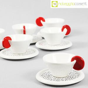 Mas Ceramiche, set tazzine bianche con manico rosso, Massimo Materassi (5)