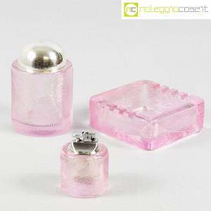 Arnolfo di Cambio, set da fumo in cristallo rosa, Sergio Asti (1)
