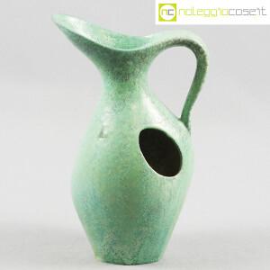Ceramiche Franco Pozzi, vaso verde con foro, Ambrogio Pozzi (1)