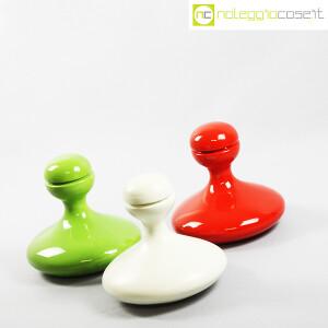 Parravicini Ceramiche, vasi con tappo verde, bianco e rosso (3)