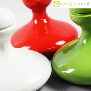 Parravicini Ceramiche, vasi con tappo verde, bianco e rosso (8)