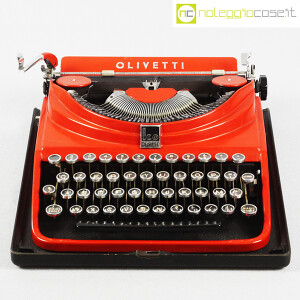 Olivetti, macchina da scrivere ICO MP1 rossa, Aldo e Adriano Magnelli (2)