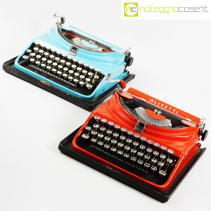 Olivetti, macchina da scrivere ICO MP1 rossa, Aldo e Adriano Magnelli (9)