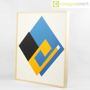 Danese Milano, serigrafia Negativo-Positivo blu-giallo, Bruno Munari (3)
