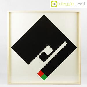 Danese Milano, serigrafia Negativo-Positivo nero, Bruno Munari (1)