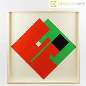 Danese Milano, serigrafia Negativo-Positivo rosso-verde, Bruno Munari (1)