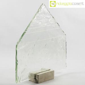 Pompeo Pianezzola, Piramide lastra in vetro con base (1)