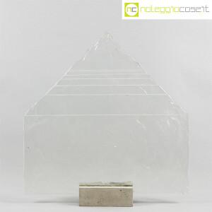 Pompeo Pianezzola, Piramide lastra in vetro con base (2)