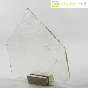 Pompeo Pianezzola, Piramide lastra in vetro con base (3)