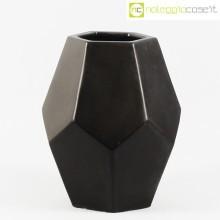 Vaso ceramica nero sfaccettato