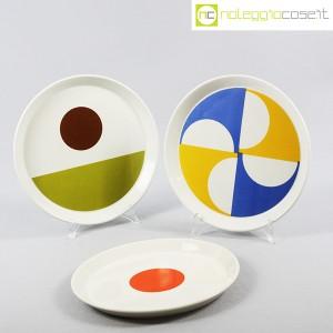 Ceramiche Franco Pozzi, set piatti serie Fantasia, Gio Ponti (3)