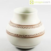 Ceramiche Pozzi vaso bianco con decori