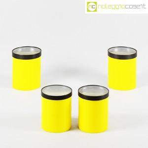 Kartell, barattoli tondi gialli con coperchio a lente, Gino Colombini (2)