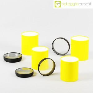 Kartell, barattoli tondi gialli con coperchio a lente, Gino Colombini (5)