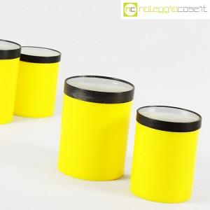 Kartell, barattoli tondi gialli con coperchio a lente, Gino Colombini (6)