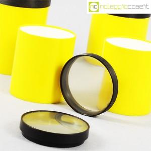 Kartell, barattoli tondi gialli con coperchio a lente, Gino Colombini (7)