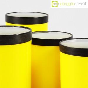 Kartell, barattoli tondi gialli con coperchio a lente, Gino Colombini (8)