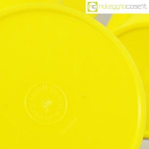 Kartell, barattoli tondi gialli con coperchio a lente, Gino Colombini (9)