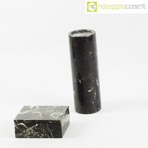 Vaso e scatola in marmo nero (3)