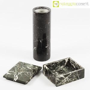 Vaso e scatola in marmo nero (5)