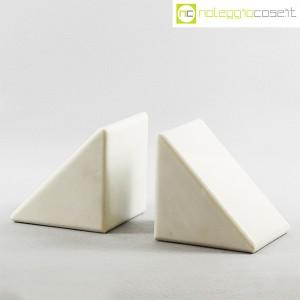 Ferma libri in marmo bianco (1)