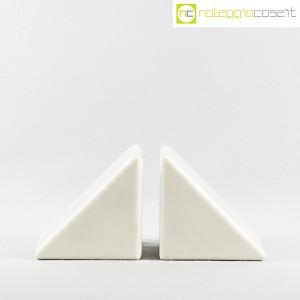 Ferma libri in marmo bianco (2)