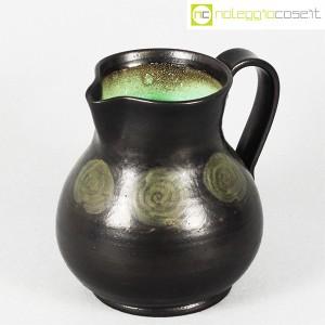Tasca Ceramiche, brocca nera con manico, Alessio Tasca (1)