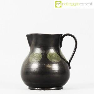 Tasca Ceramiche, brocca nera con manico, Alessio Tasca (2)